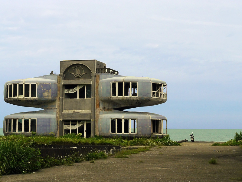 ufo house by the sea