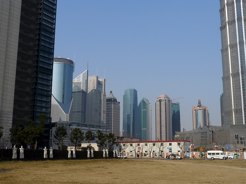 skyscrapers in pudong