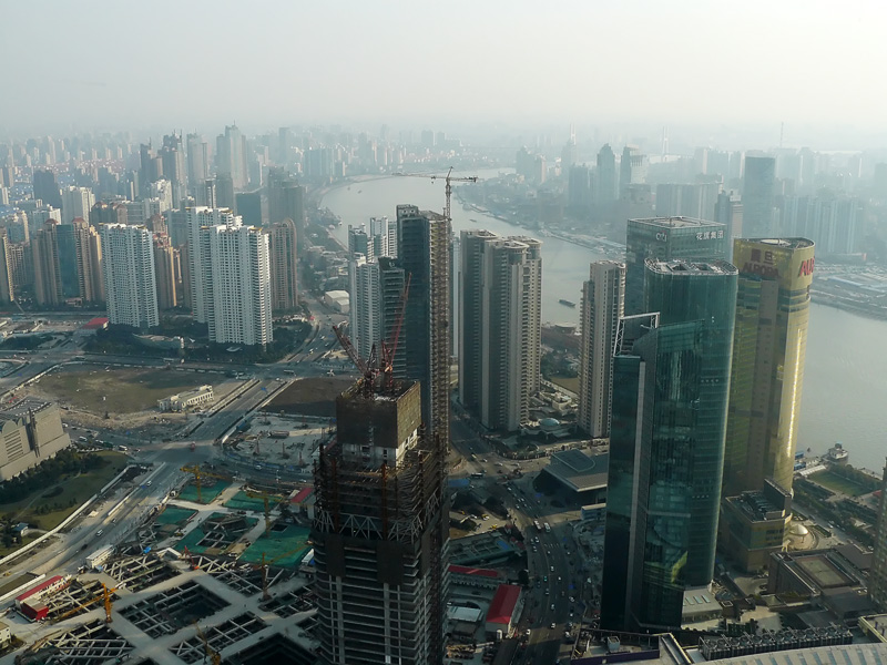 pudong from above