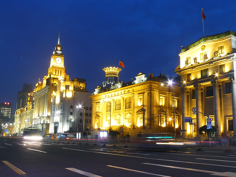 the banks on the bund